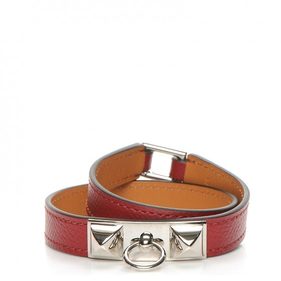 Hermes Bracelet Rivale Double Tour Epsom S