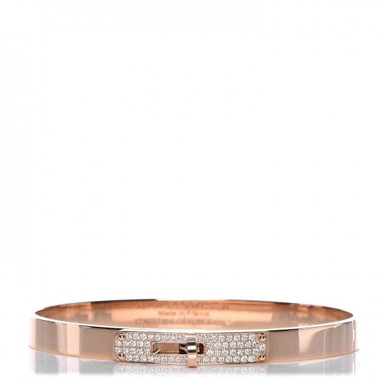 Hermes Bracelet Small Bangle Kelly Diamonds PM