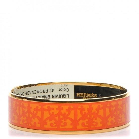Hermes Bracelet Wide Balcons-Du-Guadalquivir Enamel Printed 65