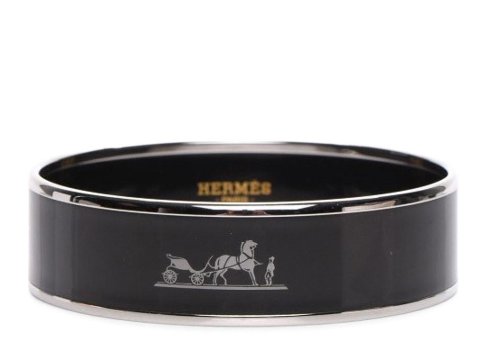 Hermes Bracelet Wide Caleche Printed Enamel 65