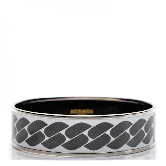 Hermes Bracelet Wide Clic C'est Noue Enamel Printed 70
