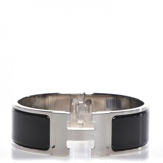Hermes Bracelet Wide Clic Clac H Enamel GM