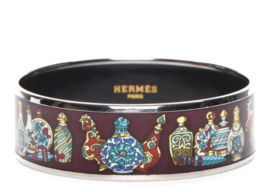Hermes Bracelet Wide Flacons Enamel Printed 65