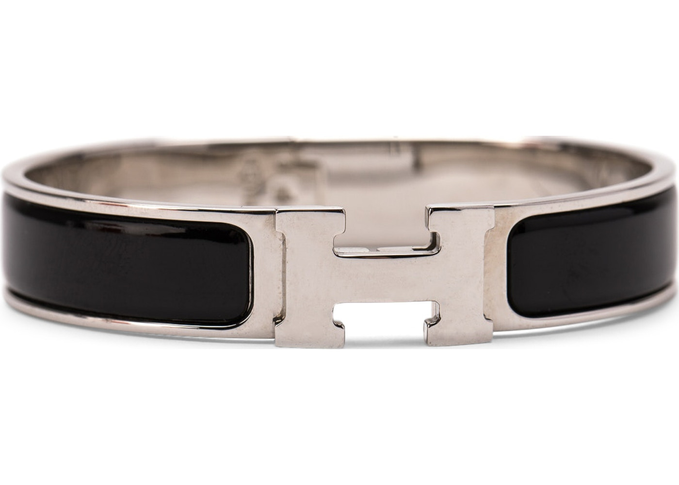 ee2c4a1451 Hermes Clic Clac H Bracelet Enamel Narrow PM Noir. Enamel Narrow PM Noir
