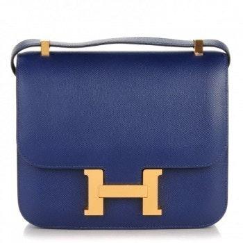 Hermes Constance Epsom 24 Bleu Saphir