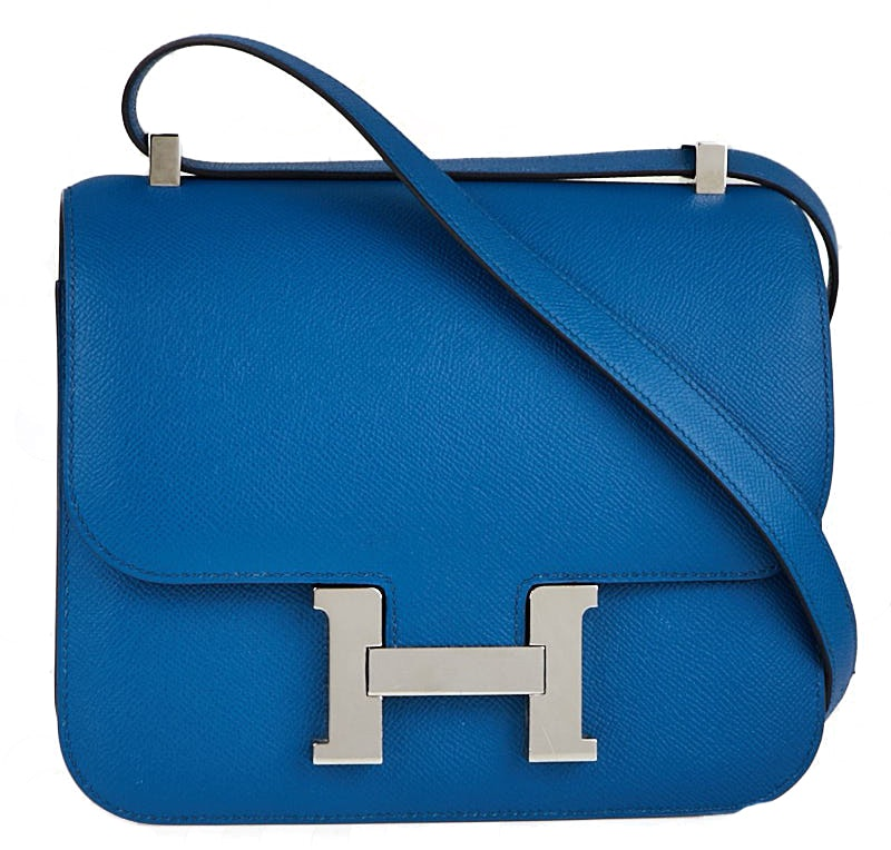 Hermes Constance Epsom 24 Blue Izmir