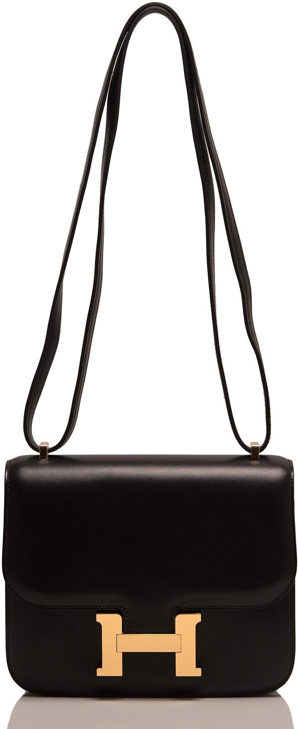 Hermes Constance Evercalf Mini Noir