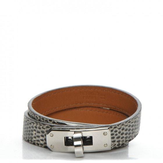Hermes Double Tour Bracelet Kelly Lizard Ombre S