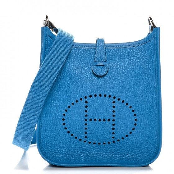 Hermes Evelyne I Taurillon Clemence TPM Blue Zanzibar