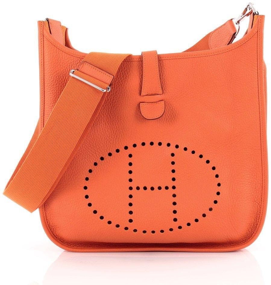 Hermes Evelyne Gen Iii Clemence GM Orange
