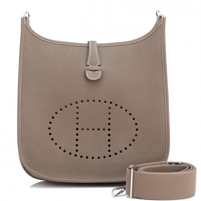 Hermes Evelyne III Clemence PM Taupe