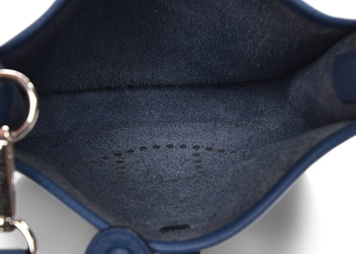 a292b2c26c40 Hermes Evelyne Taurillon Clemence Amazone Strap TPM Bleu Agate Cuivre