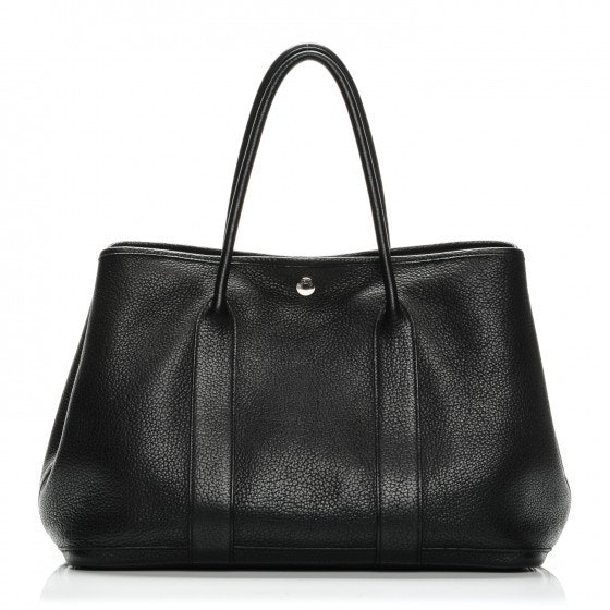 Hermes Garden Party Tote Vache Country MM Black