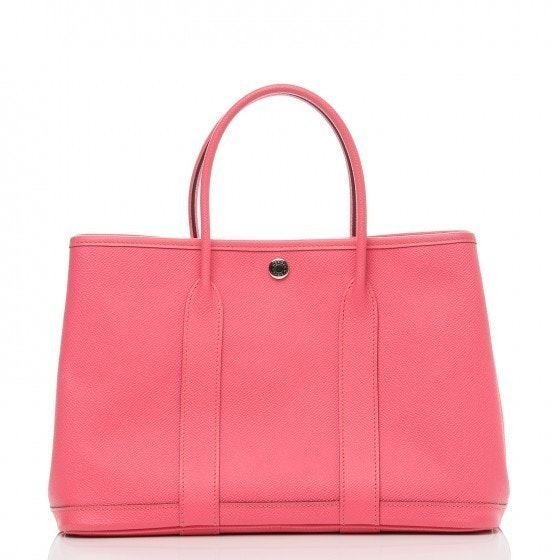 Hermes Garden Party Tote Epsom 36 Rose Azalee