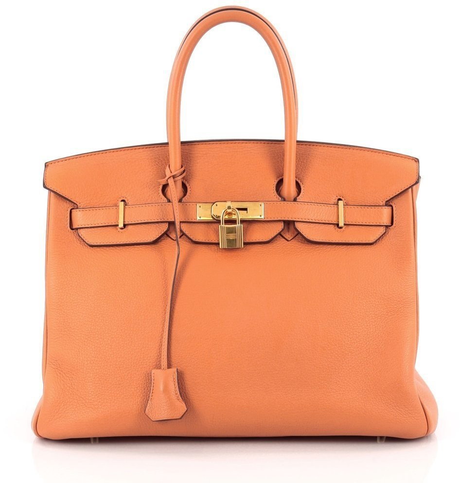 Hermes Handbag Birkin Clemence 35 Orange