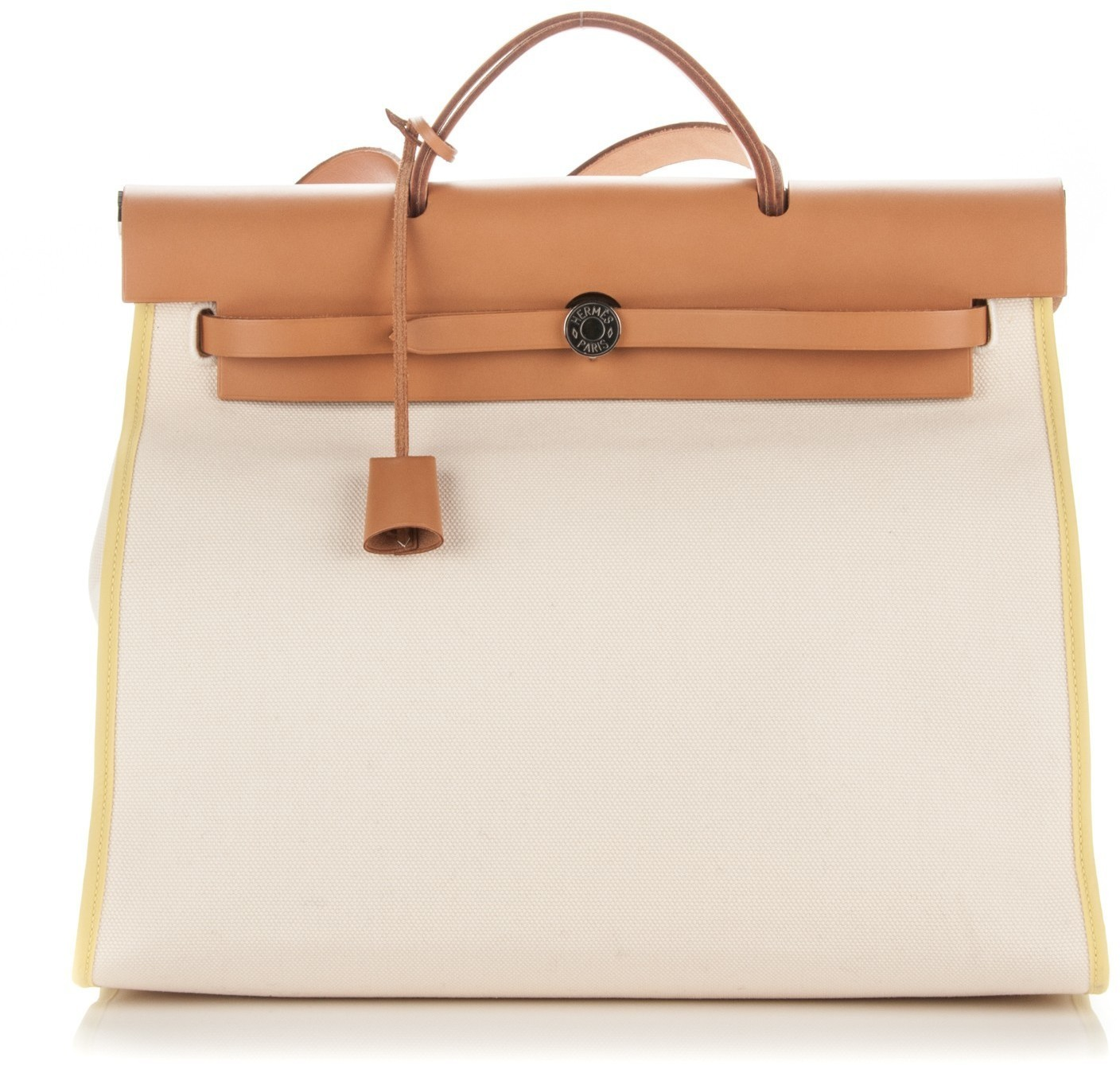 111ae2513d ... switzerland hermes herbag zip toile vache hunter mm blanc white soufre  48445 42bec