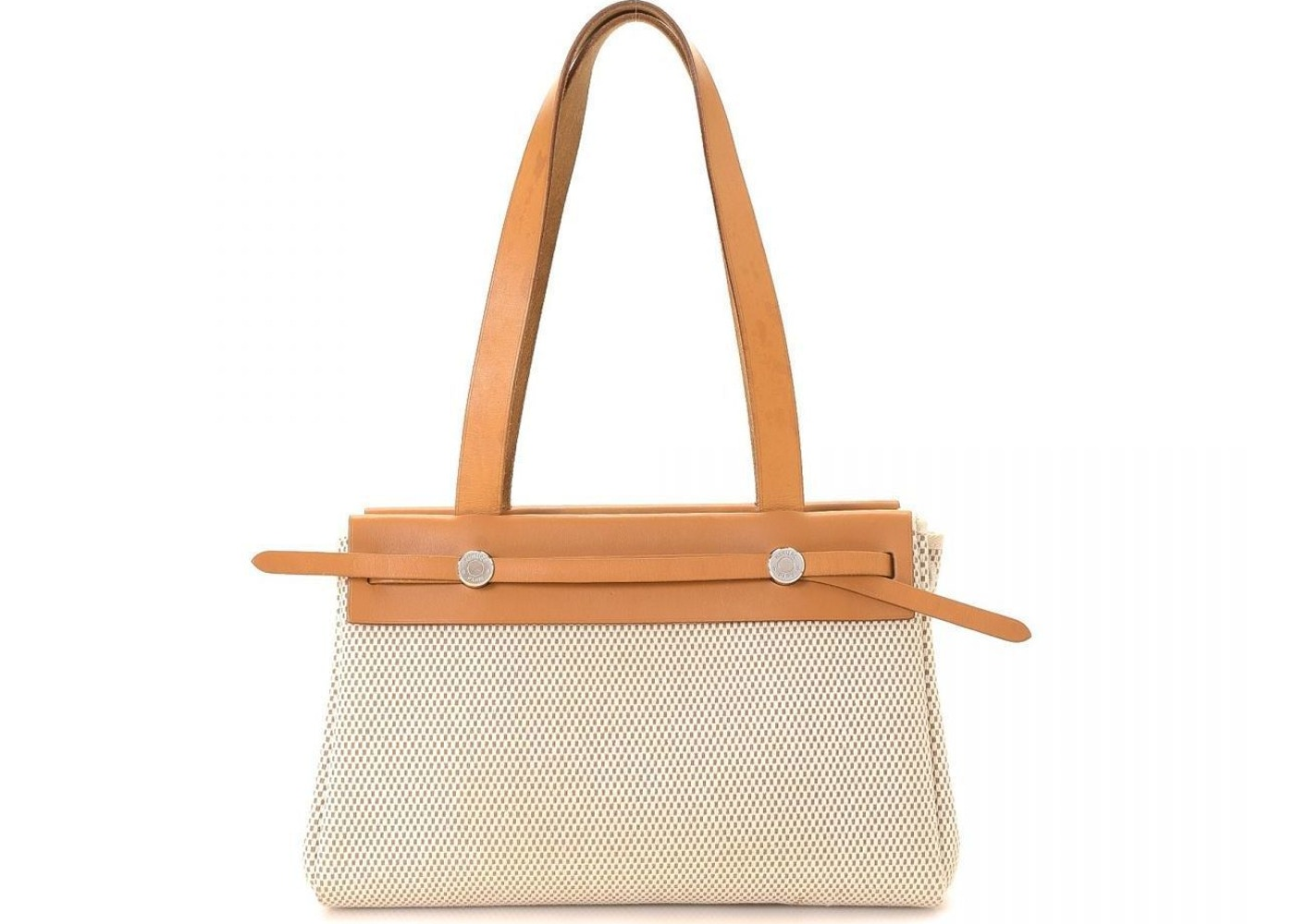 be23f6fd71e99 Sell. or Ask. View All Bids. Hermes Herbag Cabas Toile Leather PM Beige