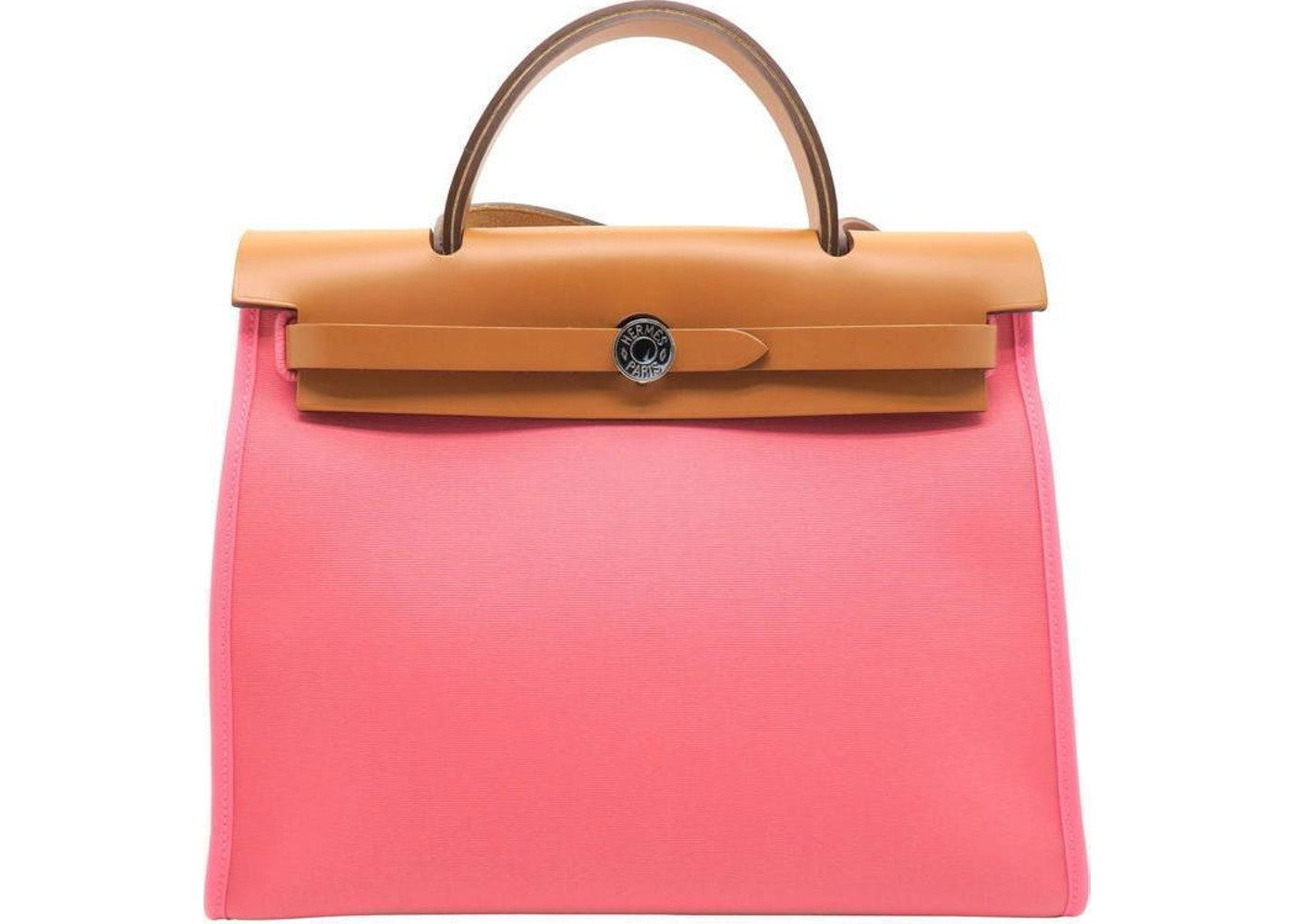 25886540d412 Hermes Herbag Top Handle PM Pink