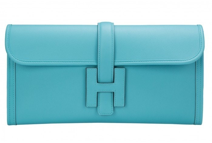 Hermes Jige Clutch Swift 29 Blue Saint Cyr