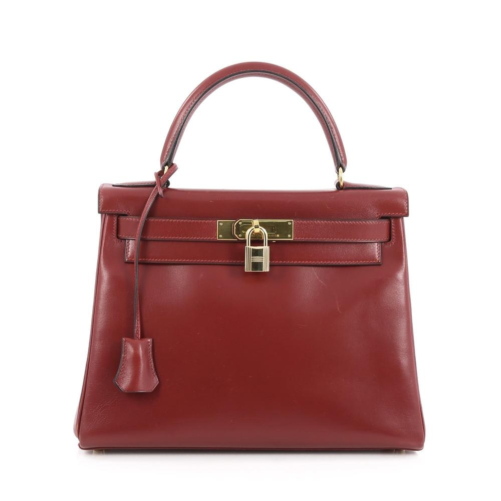 Hermes Kelly Box Calf 28 Red