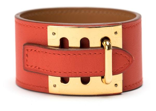 630307c7898e Hermes Kelly Dog Bracelet Cuff Swift Red