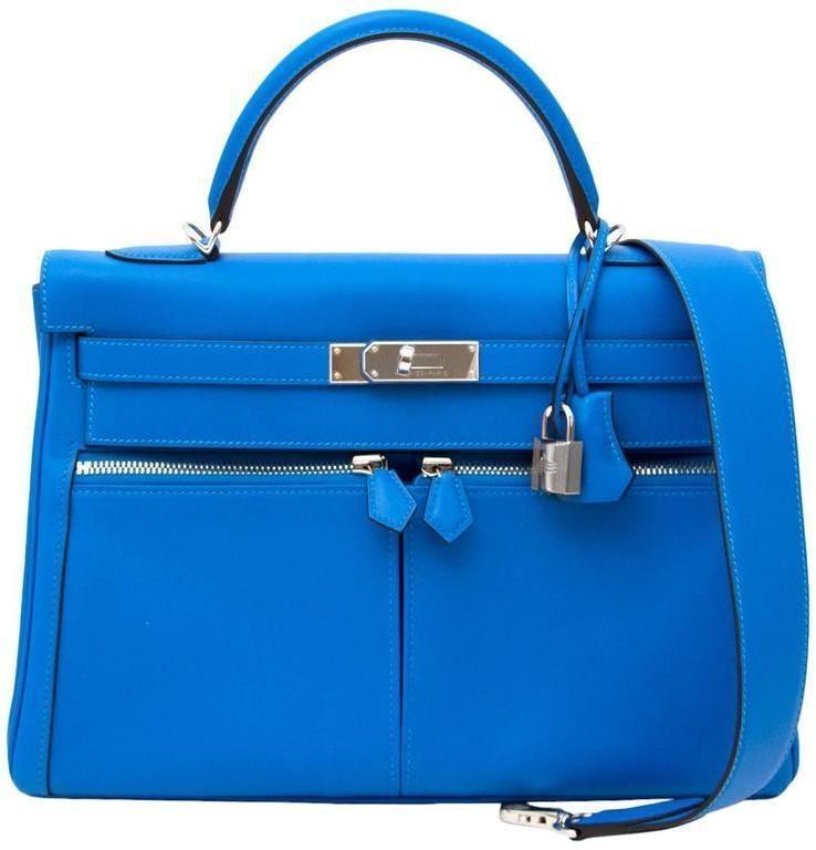 Hermes Kelly Lakis Swift 32 Blue Hydra