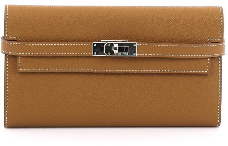 Hermes Kelly Long Wallet Epsom Gold