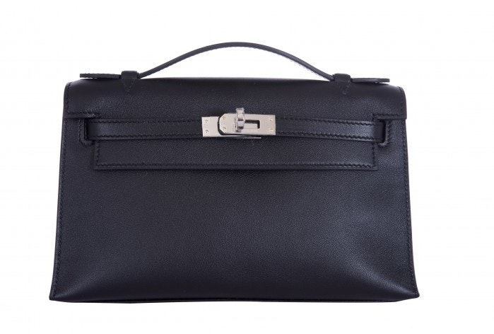 Hermes Kelly Pochette Swift Noir