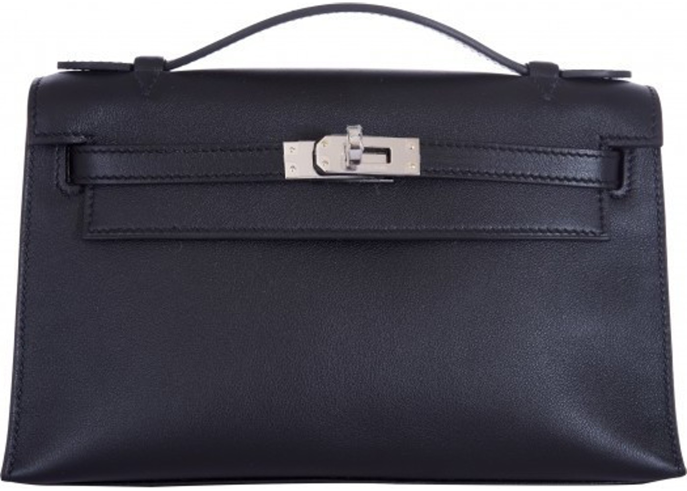 0ba6aa66a71e Sell. or Ask. View All Bids. Hermes Kelly Pochette Swift Noir