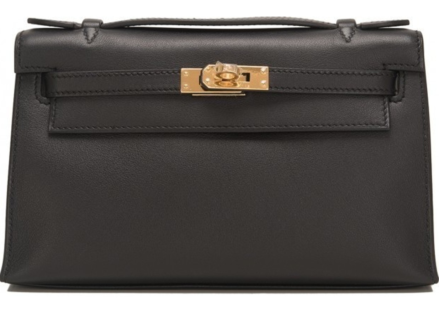 19667d3b90e1 Sell. or Ask. View All Bids. Hermes Kelly Pochette Swift Mini Black