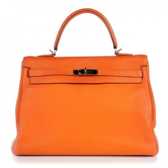 Hermes Kelly Retourne Clemence 35 Orange