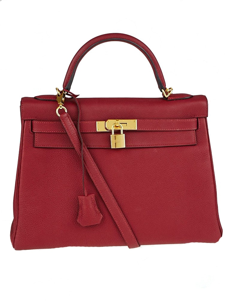 Hermes Kelly Retourne Togo 32 Rouge Grenate