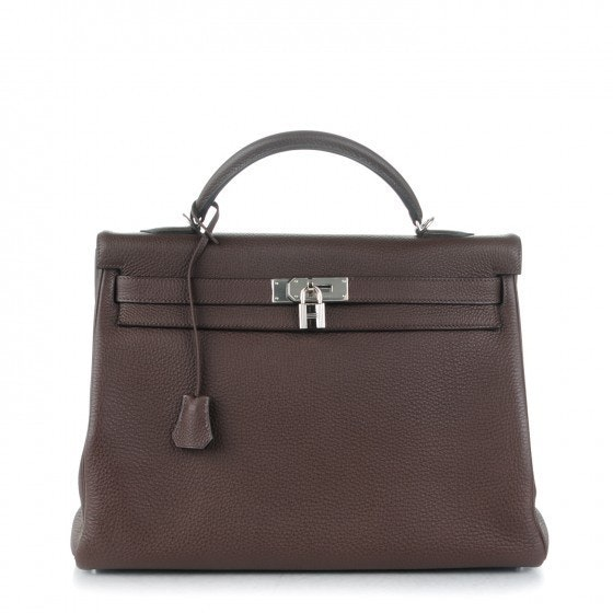 Hermes Kelly Retourne Togo 40 Chocolate