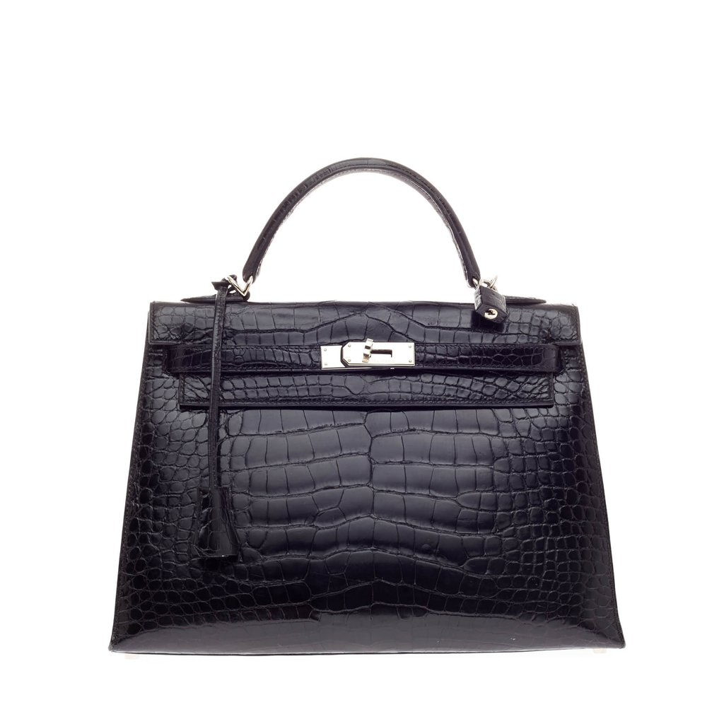 Hermes Kelly Sellier Alligator 32 Noir