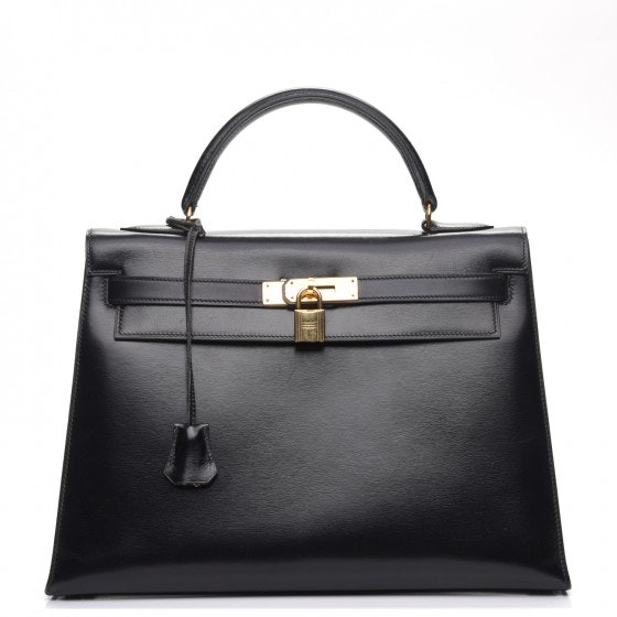 Hermes Kelly Sellier Box Calf 32 Noir