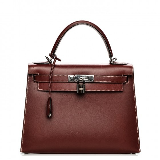 Hermes Kelly Sellier Chamonix 28 Rouge H