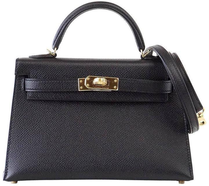 Hermes Kelly Sellier Epsom 20 Black