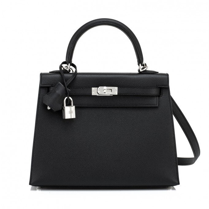 Hermes Kelly Sellier Epsom 25 Black