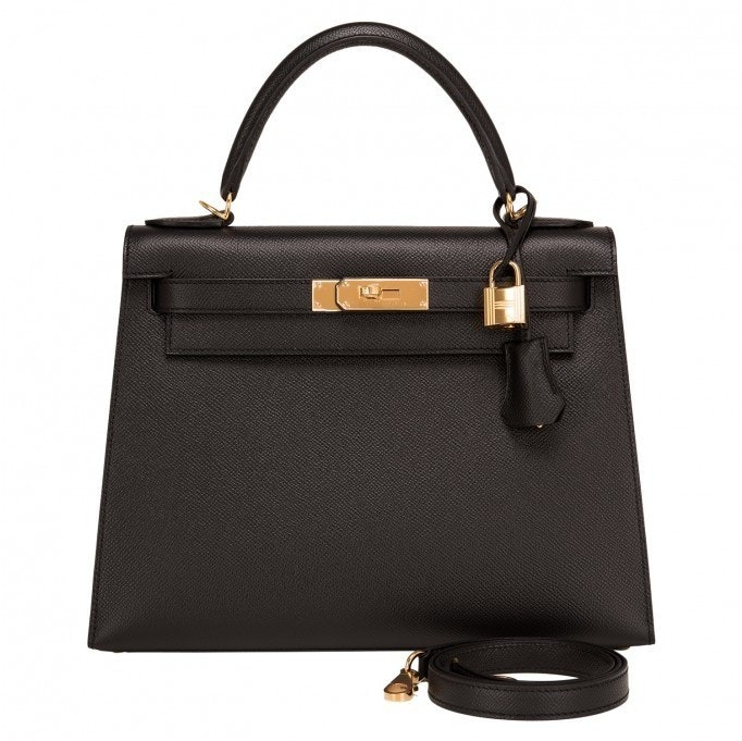 Hermes Kelly Sellier Epsom 28 Black