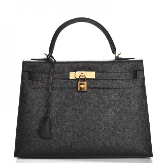 Hermes Kelly Sellier Epsom 32 Black