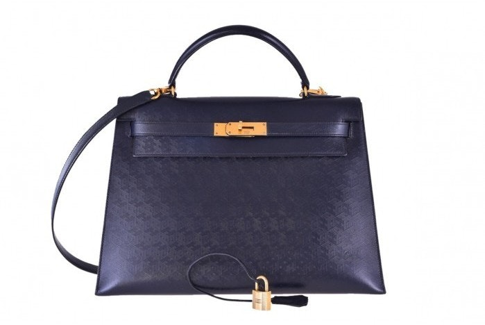Hermes Kelly Sellier Monogram 32 Indigo