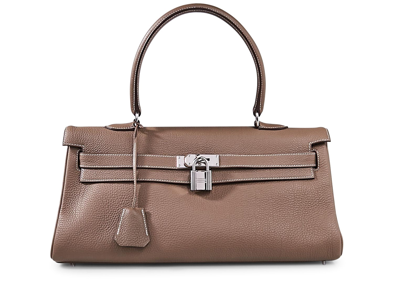 Hermes Kelly Taurillon Clemence 42 Etoupe