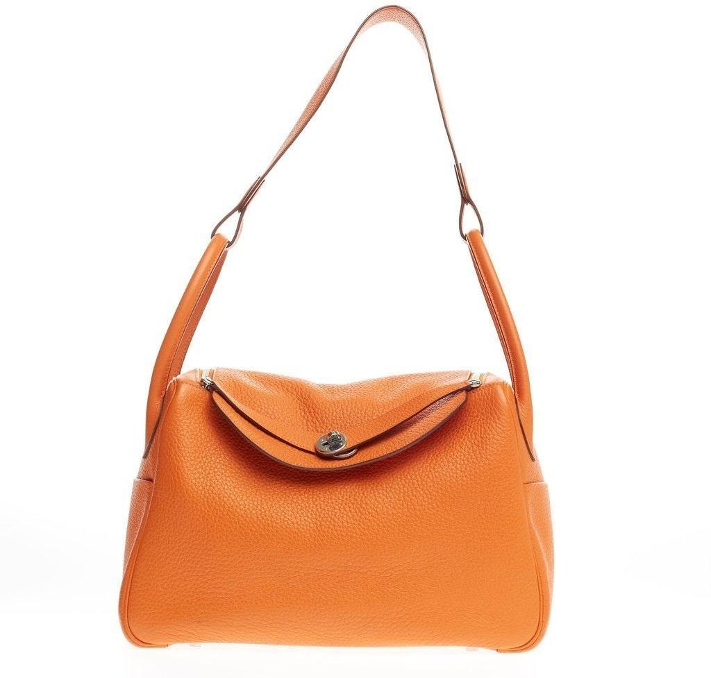 Hermes Lindy Clemence 34 Orange