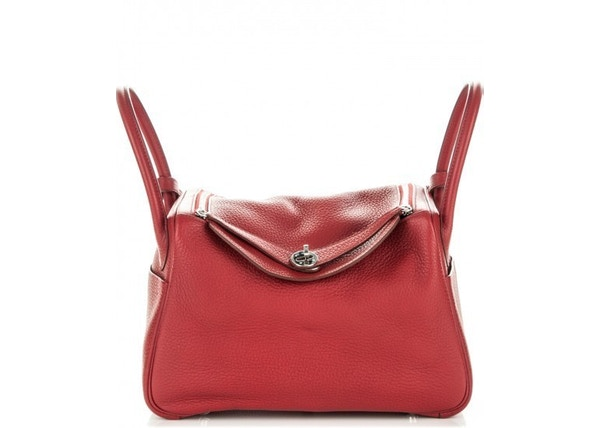 b76a9ed388 Hermes Lindy Clemence 30 Rouge Garance