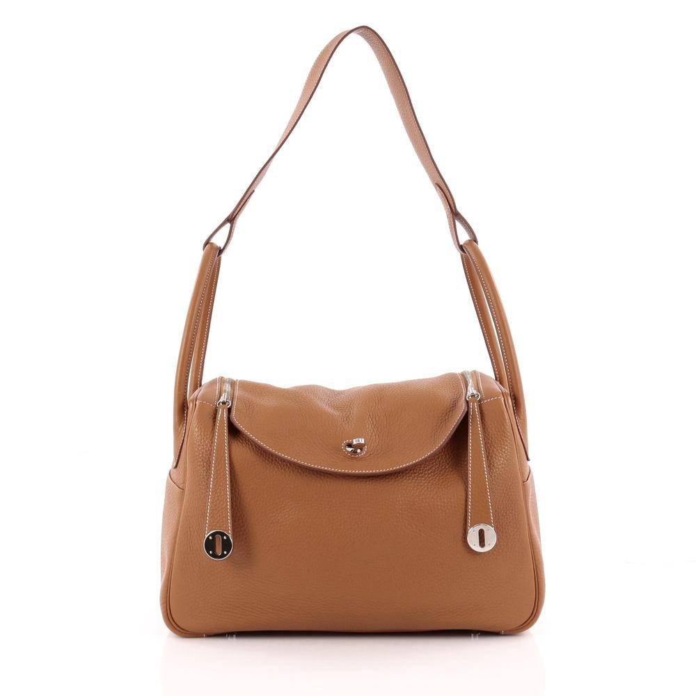 Hermes Lindy Taurillon Clemence 34 Gold