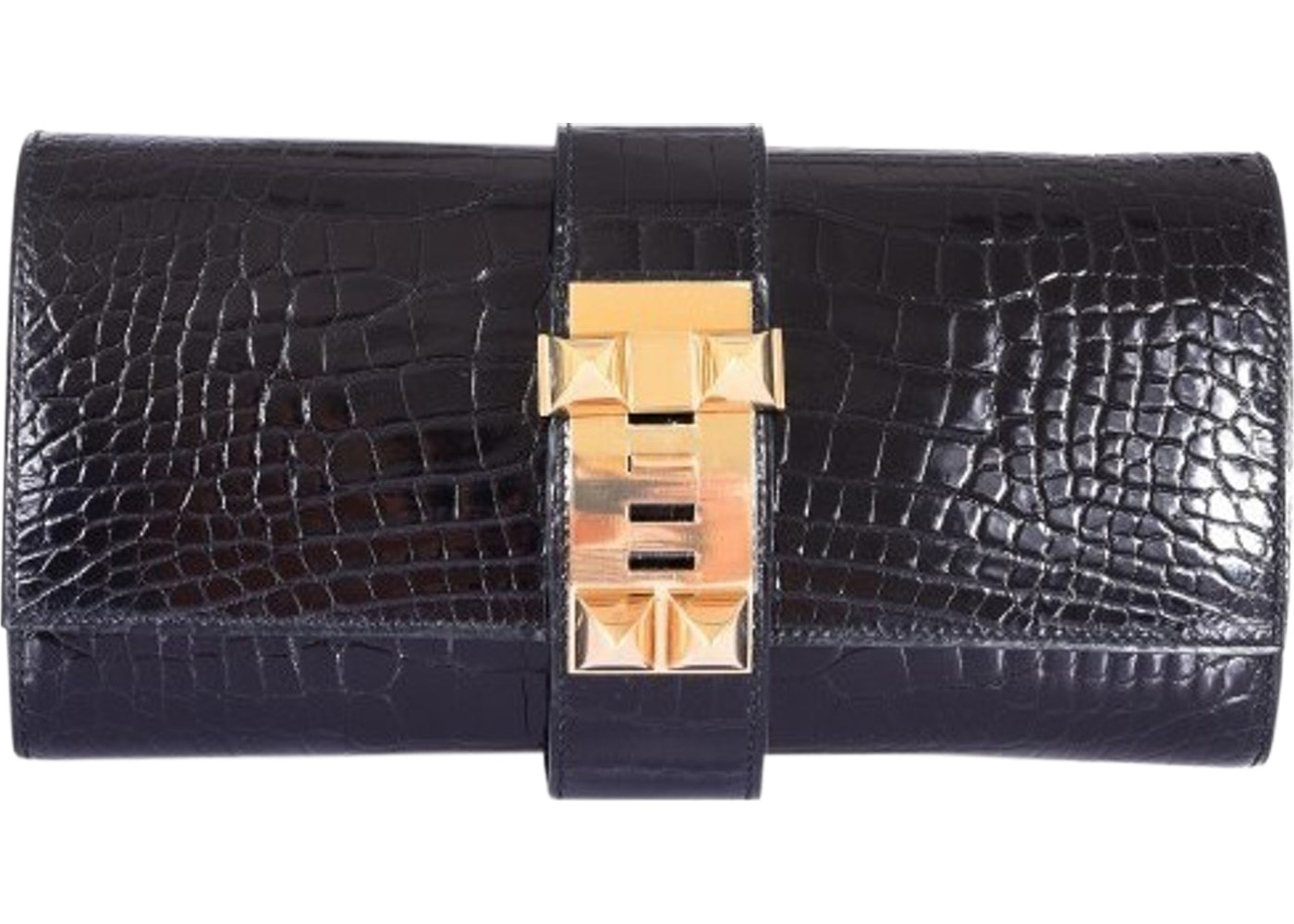 f83d5a25a564 Sell. or Ask. View All Bids. Hermes Medor Clutch Alligator 23 Black