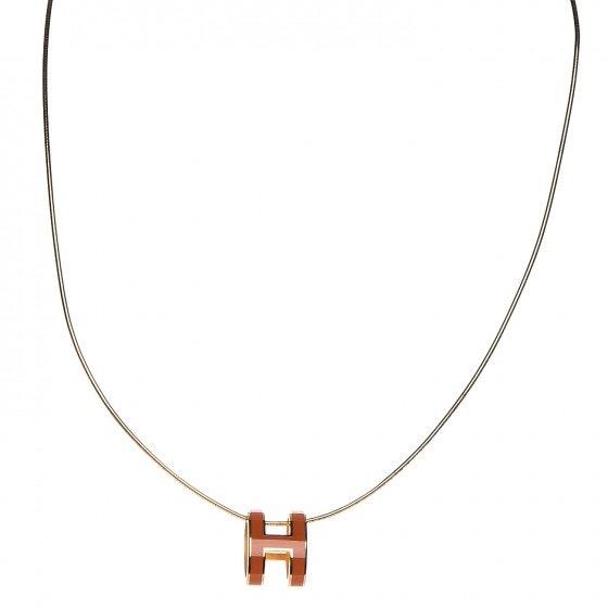 Hermes Necklace Pop H Pendant Lacquered