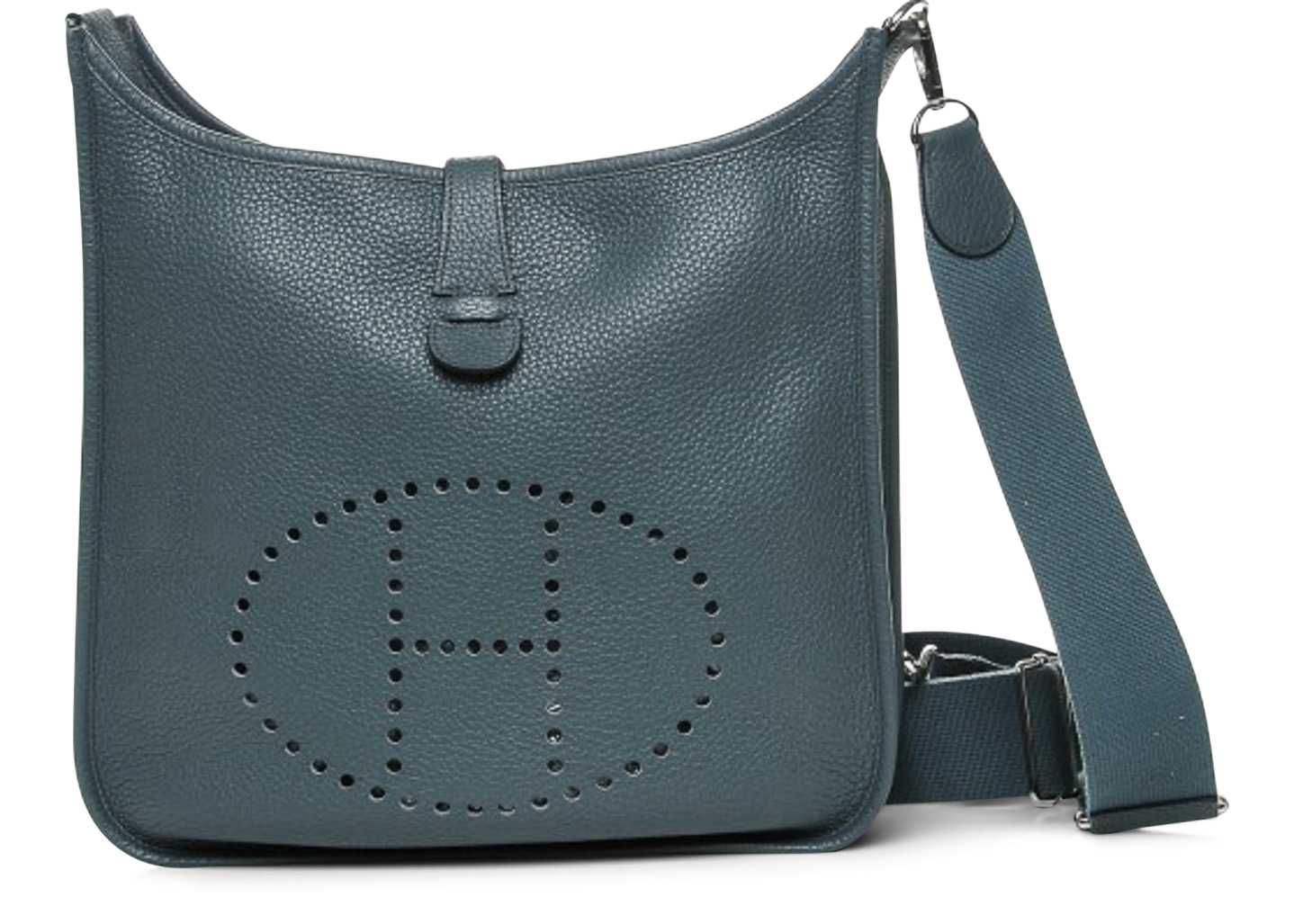 get hermÈs vespa leather crossbody bag fd7f2 b60fc  new style hermes  shoulder bag evelyne iii clemence gm bleu orage dd932 a70fa b53e3be0faeeb