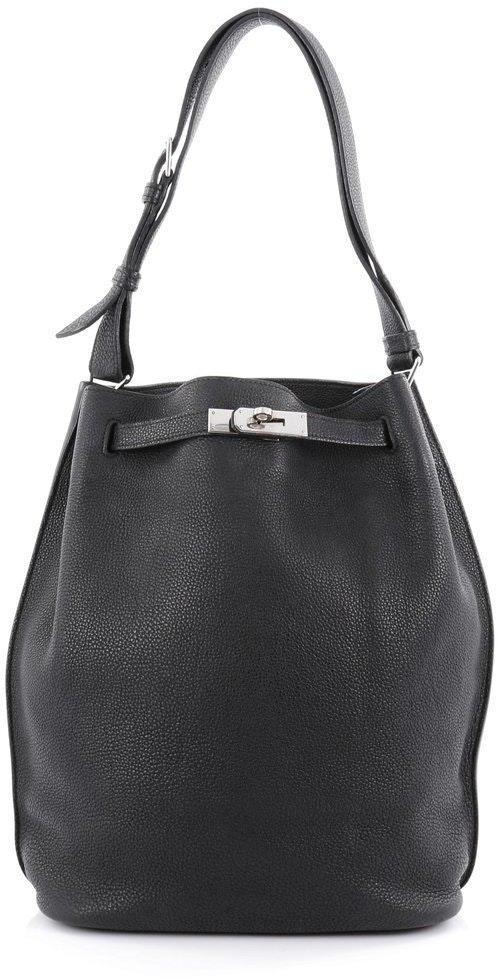 Hermes Handbag So Kelly Togo 26 Black
