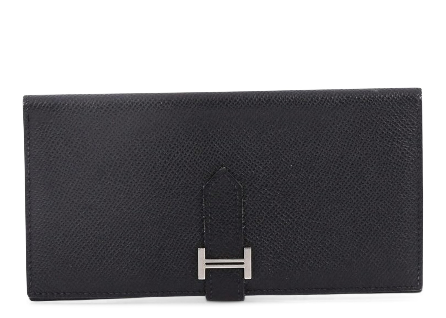 Hermes Wallet Bearn Epsom H Tab Closure Long Black